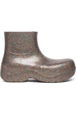 Bottega Veneta The Puddle Glitter Rubber Ankle Boots - Womens - Multi