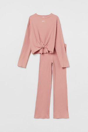 H&M Kids Neckties - 2-piece Ribbed Cotton Set