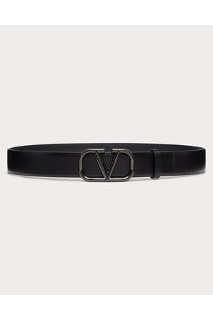 VALENTINO GARAVANI Women Belts - Vlogo Signature Belt In Glossy Calfskin 30mm Women 100% Pelle Di Vitello - Bos Taurus 100