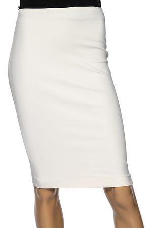 VERSACE Off Silk Pencil Skirt S
