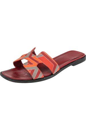 Hermès Fabric Oran Slide Sandals Size 36
