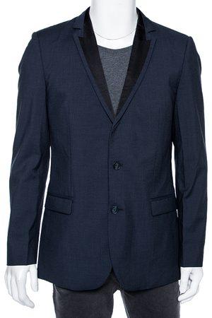 HUGO BOSS Wool Contrast Lapel Trim Single Breasted Aderik/Heise Blazer L