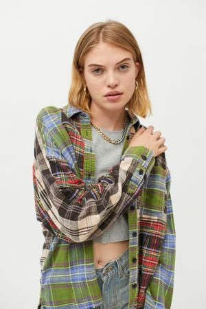 BDG Women Shirts - Ted Patchwork Flannel Shirt