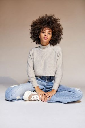 Urban Outfitters UO Kyla Cropped Turtleneck Sweater