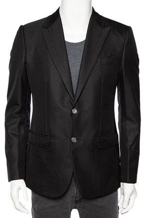 Dolce & Gabbana Patterned Wool Single Breasted Blazer M