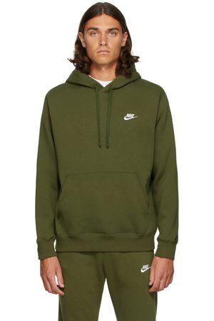 Nike Men Hoodies - Green Fleece Sportswear Club Hoodie