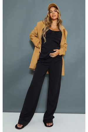 PRETTYLITTLETHING Maternity Tailored Strappy Jumpsuit