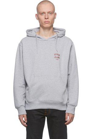 Nudie Jeans Men Hoodies - Grey Franke Logo Hoodie