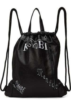 KSUBI Men Luggage - Black Drawstring Backpack