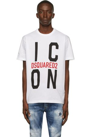 Dsquared2 Men T-shirts - White 'Icon' T-Shirt