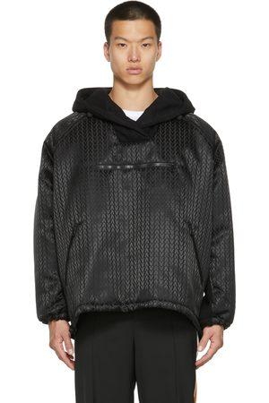VALENTINO Black Nylon Logo Jacket