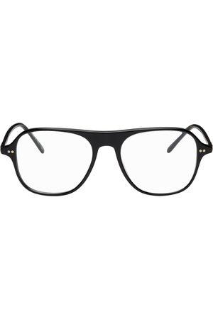 Oliver Peoples Black Nilos Square Glasses