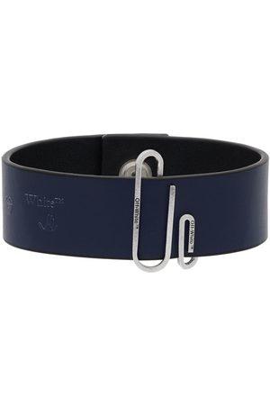 OFF-WHITE Men Bracelets - Navy Paperclip Bracelet