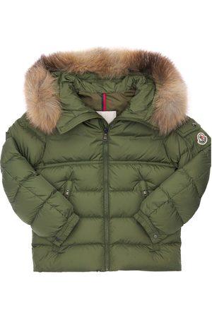 Moncler New Byron Nylon Down Jacket W/ Fur