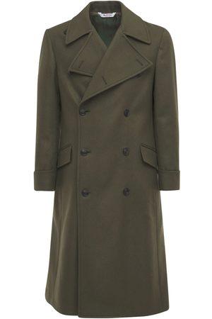 BOTTEGA MARTINESE Double Breast Wool Blend Long Coat