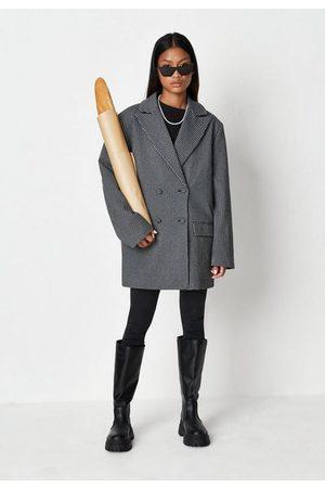 Missguided Plaid Oversized Boyfriend Blazer Coat