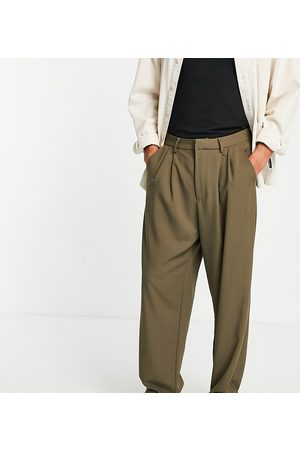COLLUSION Tapered pants in khaki