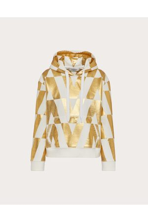 VALENTINO Printed Jersey Sweatshirt Women / 100% Cotton L