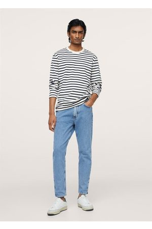 MANGO Men Long Sleeve - Striped long sleeves t-shirt