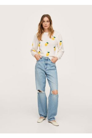 MANGO Knit embroidered sweater