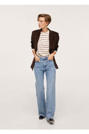 MANGO Women High Waisted - Wide leg high waist jeans