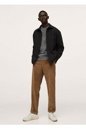 MANGO Pleated corduroy pants