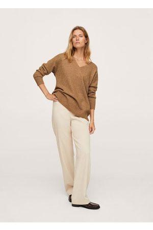MANGO V-neck knit sweater