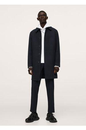 MANGO Men Coats - Water-repellent wool coat