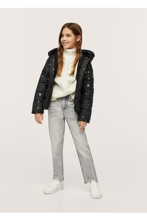 MANGO Girls Coats - Printed quilted coat