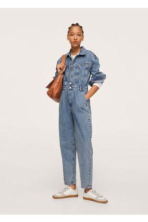 MANGO Women Jeans - Long denim jumpsuit