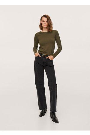 MANGO Scalloped edges sweater
