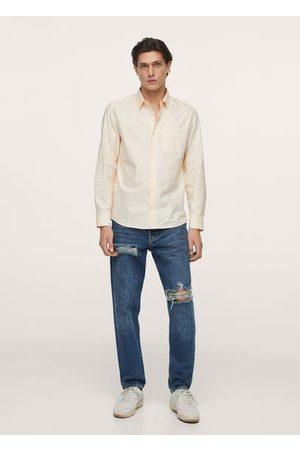 MANGO Men Shirts - Oxford cotton shirt