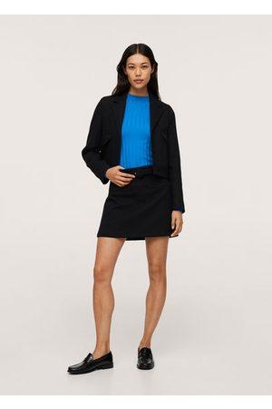 MANGO Women Cardigans - Ribbed knit sweater