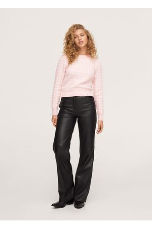 MANGO Women Cardigans - Checks knitted sweater