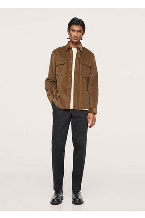 MANGO Men Shirts - Regular fit pocket corduroy shirt