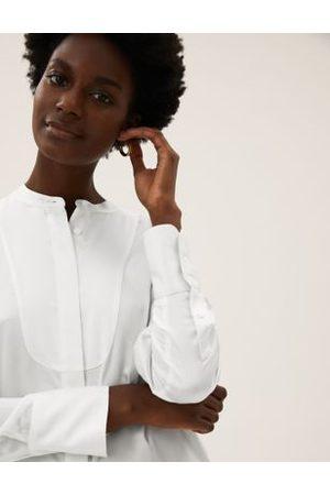 Marks & Spencer Bib Detail Long Sleeve Shirt