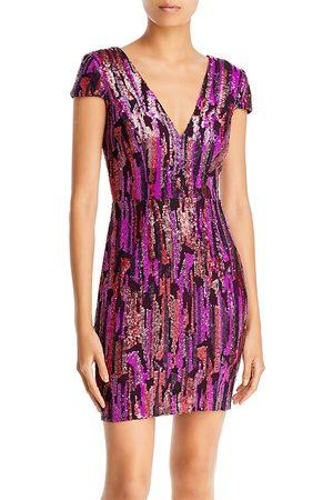 Dress The Population Women Bodycon Dresses - Zoe Sequined Bodycon Dress