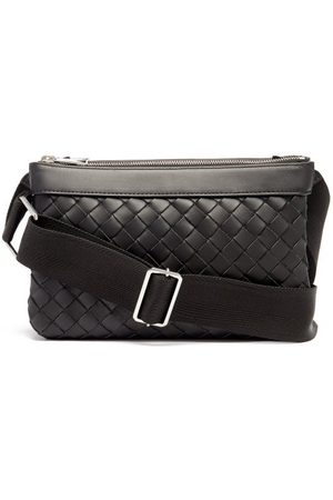 Bottega Veneta Men Bags - Hydrology Intrecciato-leather Cross-body Bag - Mens