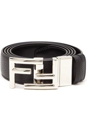 Fendi Ff-buckle Grained-leather Belt - Mens