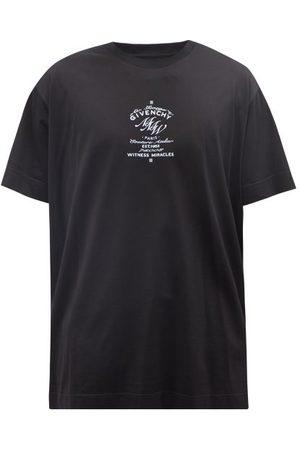 Givenchy Crest-print Cotton-jersey T-shirt - Mens