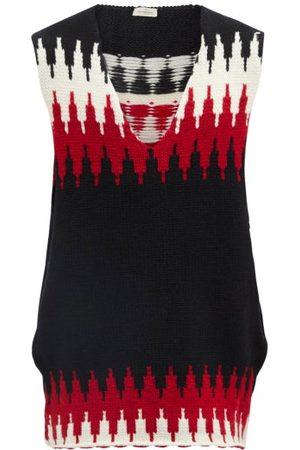 Stefan Cooke Striped-jacquard Wool Sweater Vest - Mens - Multi
