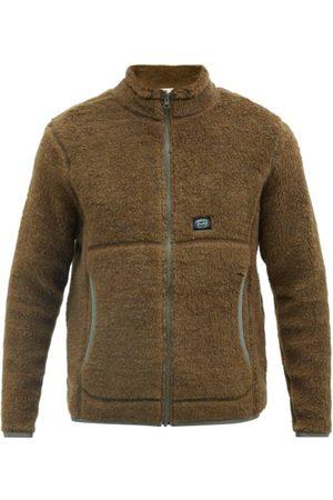 Snow Peak Men Fleece Jackets - Logo-patch Wool-blend Fleece Jacket - Mens