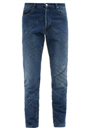 Stefan Cooke Panelled Straight-leg Jeans - Mens