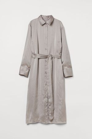 H&M Women Casual Dresses - Satin Shirt Dress