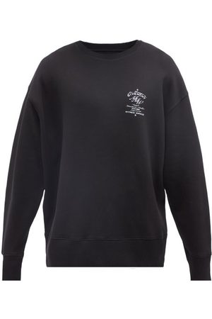 Givenchy Crest-print Cotton-jersey Sweatshirt - Mens