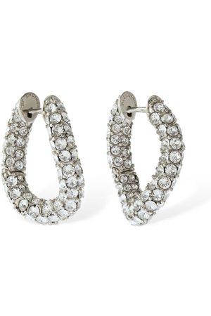 Balenciaga Loop Xs Crystal Earrings