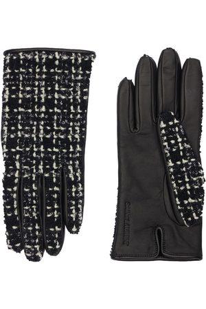 Saint Laurent Tweed & Leather Gloves