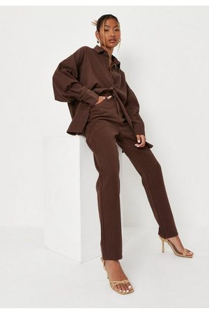 Missguided Women Straight - Chocolate Co Ord Straight Leg Jeans