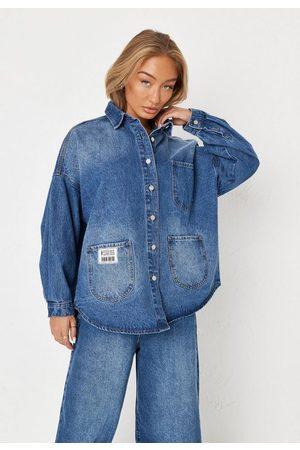 Missguided Co Ord Triple Pocket Detail Denim Shirt