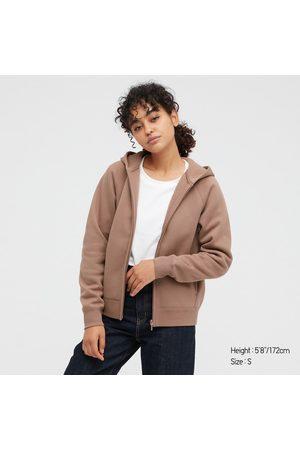 UNIQLO Women's Soft Pile-Lined Sweat Long-Sleeve Full-Zip Hoodie, , XXS